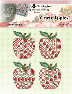 Crazy Apples Ornaments Cross Stitch Pattern
