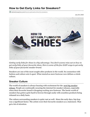 How to Get Early Links for Sneakers