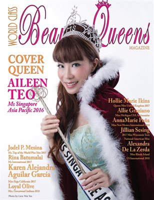 World Class Beauty Queens Magazine Issue 58 with Aileen Teo