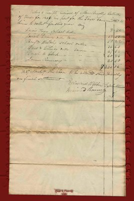ORDERS & RECEIPTS RECEIVED OF MOSES BRADLEY TAX COLLECTOR