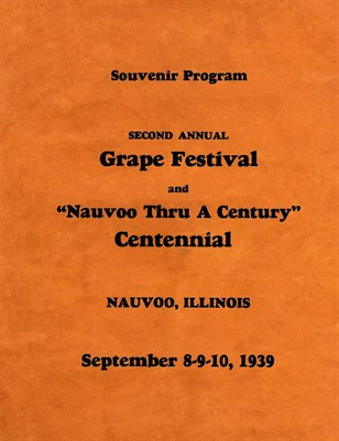 Nauvoo Grape Festival Program 1939