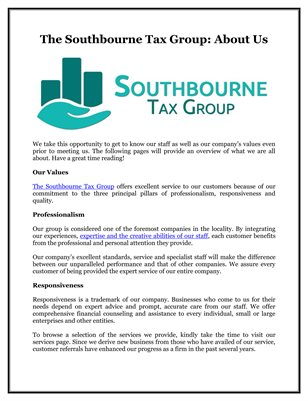 The Southbourne Tax Group: About Us