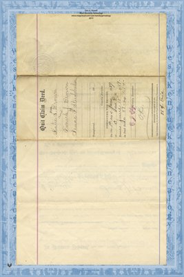 (PAGES 1-2) 1889 DEED, BROWN TO STUDEBAKER, Miami County, Ohio