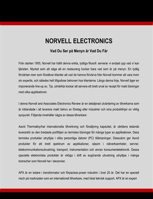 Norvell Electronics: Vad Du Ser på Menyn är Vad Du Får