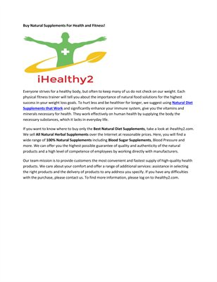 Natural B12 Supplements