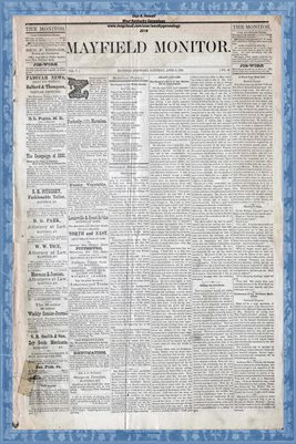 (PAGES 1-2) APRIL 3, 1880 MAYFIELD MONITOR