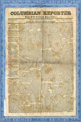 (PAGES 1-2) April 20, 1831 Columbian Reporter & Old Colony Journal, Tauton Massachusetts