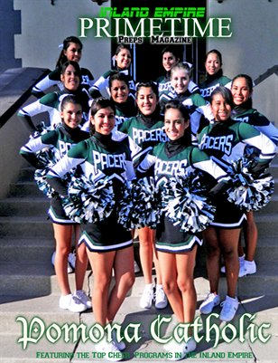 Inland Empire Prime Time Preps Magazine Pomona Catholic Cheer Edition April 2012
