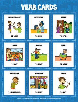 Flash Cards - Spanish verbs  (#1.3)
