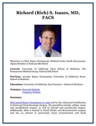 Richard (Rich) S. Isaacs, MD, FACS