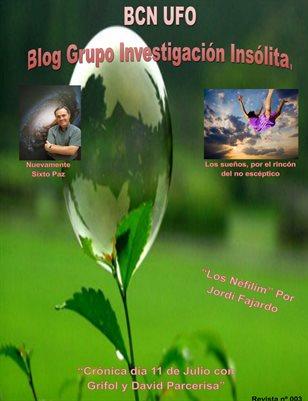 Blog grupo investigación insólita, BCN UFO (Mes de Agosto 2017)