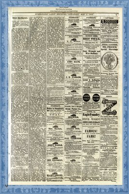 (PAGES 7-8) May 2, 1874 Evansville Daily Journal, Evansville, Indiana