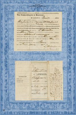 (PAGES 3-4) 1893-1894 Jackson Vs. Stunston, Graves County, Kentucky