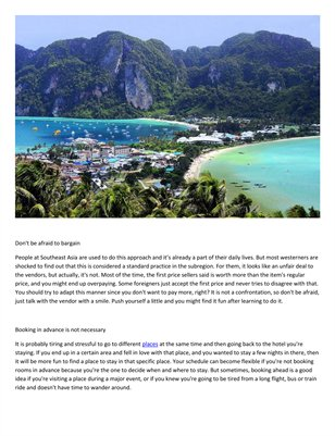 Bacall Associates: Tips for traveling