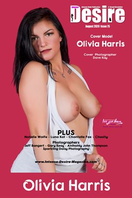 INTENSE DESIRE MAGAZINE COVER POSTER - Cover Model Olivia Harris - August 2020