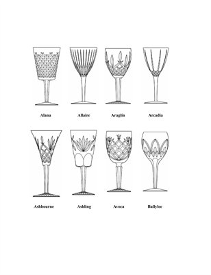 The Waterford Crystal Pattern Guide MagCloud Delectable Crystal Patterns Identification