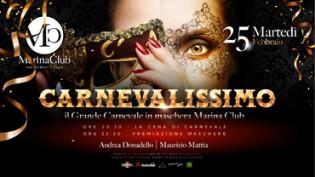 Marina Club: Carnevalissimo, La festa in maschera