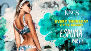 King's • Espuma Party, il Giovedì in #GardenRoom