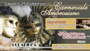 Carnevale Ambrosiano alla discoteca Bobadilla