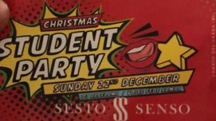 Christmas Student Party @ Sesto Senso