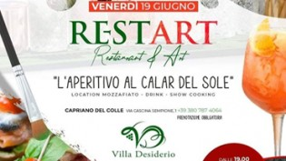 Re-start, aperitivo al calar del sole a Villa Desiderio!
