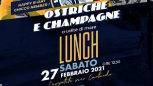 Ostriche & champagne Cruditè di Mare Lunch al Vita Privè!