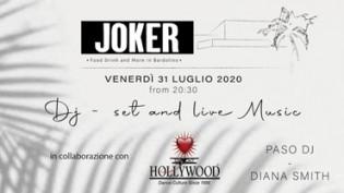 Joker Fridays by Hollywood - dinner, live music and dj set!