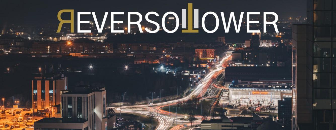 Reverso Tower a Brescia, cucina, club e cocktail bar rooftop