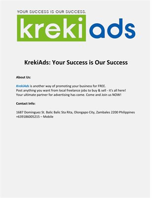 KrekiAds: Your Success is Our Success