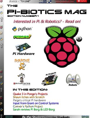 Example Cover from the new Pi-Biotics Magazine