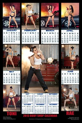 Toni Rae 2013 Body Shop Calendar