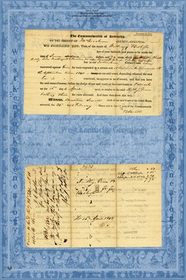 1841 McCracken County, Kentucky We command you, that, of the Estate of William Bishop...