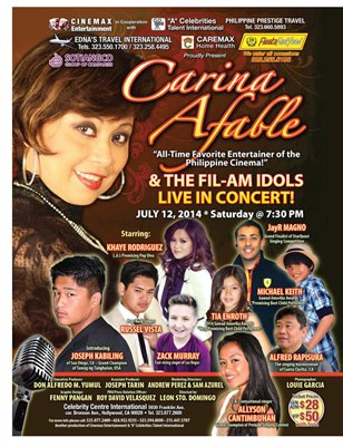Fil-Am Idols In Concert with Carina Afable***