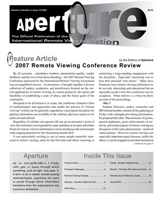 APERTURE, 2009, Issue 15