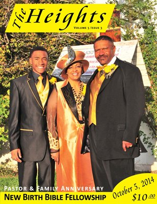 Volume 5 Issue 3 - Pastor & Family Anniversary New Birth Bible Fellowship