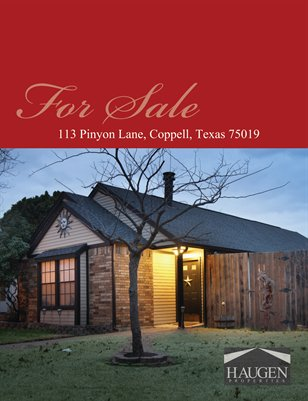 Haugen Properties - 113 Pinyon Lane, Coppell, Texas 75019