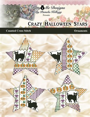 Crazy Halloween Stars Counted Cross Stitch Ornaments