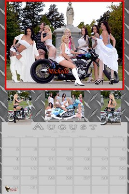 Michelle Miss August 2015 poster