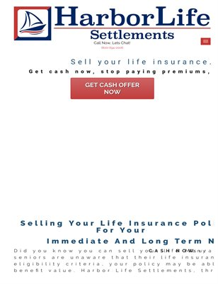 Selling A life Insurance Policy For Cash