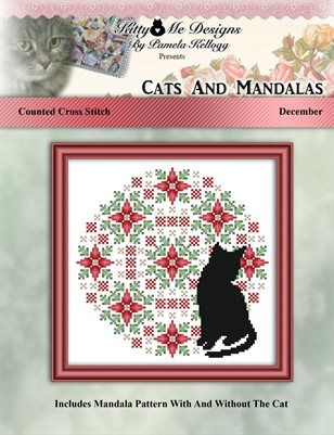 Cats And Mandalas December Cross Stitch Pattern