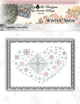 Winter Snow Counted Cross Stitch Pattern