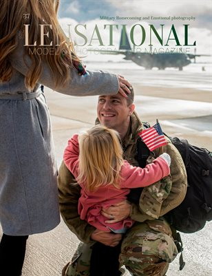 LENSATIONAL Model and Photographer Magazine #37 Issue | Military Homecoming and Emotional Photography