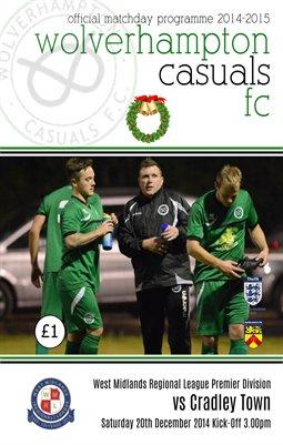 Wolverhampton Casuals v Cradley Town 20/12/14