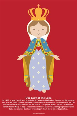Happy Saints Our Lady of the Cape Poster