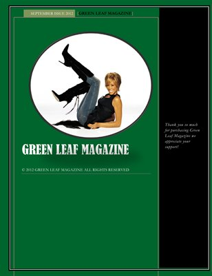 GREEN LEAF MAGAZINE- SEPTEMBER ISSUE