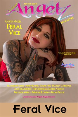 ENCHANTED ANGELZ MAGAZINE COVER POSTER- Cover Model Feral Vice - April 2019