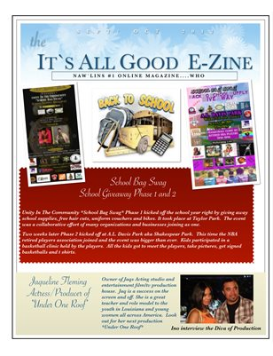 AGH Magazine with  School Bag Swag event, Baby Erin, Ya Heard Bounce Documentary and Jaq the Film Diva