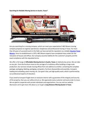 Cheap Moving Trucks Texas