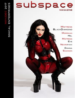 subspace Nov/Dec - Mistress Blackdiamoond cover edition