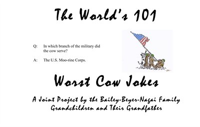 The Worlds 101 Worst Cow Jokes
